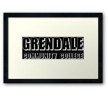 Greendale Community Funny Geek Nerd Framed Print