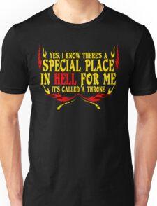 HELL THRONE Funny Geek Nerd Unisex T-Shirt