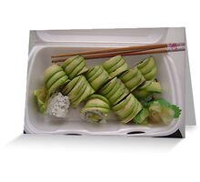 Take out: Avocado Rolls Greeting Card