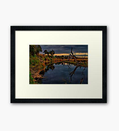 """""""Beside Still Waters"""" Framed Print"""