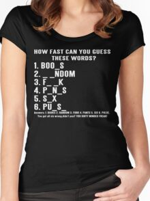 How Fast Can You Guess These Words Funny Geek Nerd Women's Fitted Scoop T-Shirt