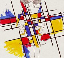 Mondrian inspired Dress by D.U.R.A .