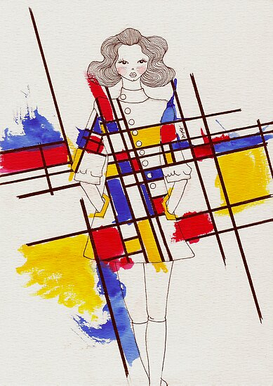 mondrian inspired dress by d u r a redbubble. Black Bedroom Furniture Sets. Home Design Ideas