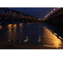 Bridge over moony waters Photographic Print