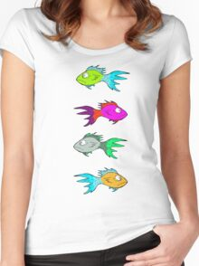 Neon Fish Women's Fitted Scoop T-Shirt