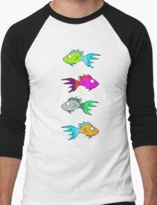Neon Fish Men's Baseball ¾ T-Shirt