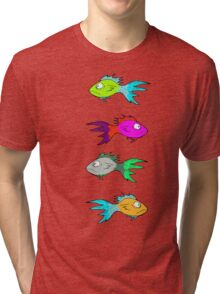 Neon Fish Tri-blend T-Shirt