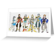 height chart Greeting Card