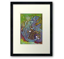 Blue Geckos Framed Print
