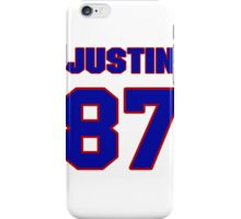 National football player Justin Peelle jersey 87 iPhone Case/Skin