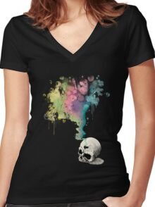 """Immortal Fate"" Watercolor series 4/5 Women's Fitted V-Neck T-Shirt"