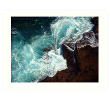 Salty water & rocks Art Print