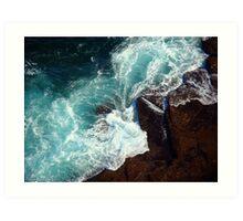 Salty water & rocks Art Print