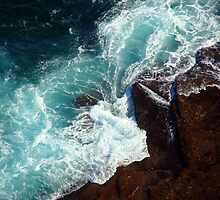 Salty water & rocks by Of Land & Ocean - Samantha Goode