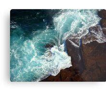 Salty water & rocks Metal Print