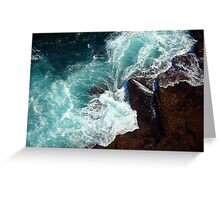 Salty water & rocks Greeting Card