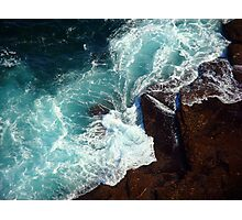 Salty water & rocks Photographic Print