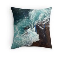 Salty water & rocks Throw Pillow