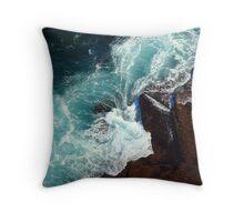 Salty water & rocks Throw Pillow
