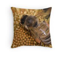 Beee Patient Throw Pillow