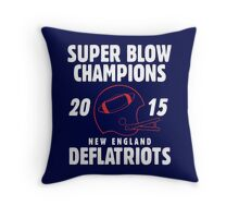 Deflate Gate - Vintage Deflatriots Super Blow Champions Throw Pillow
