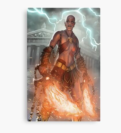 Female Kratos from God of War Metal Print