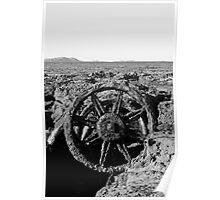 Wagon Wheel on Windang Beach Poster