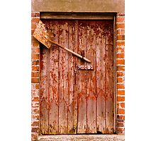 Door & Shovel Photographic Print