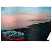 Lake Te Anau at Sunrise Poster