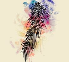 "Choose only light colors :) ""Afternoon feather"" Watercolor series 1/5 by demas"