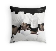 Happy chefs  Throw Pillow