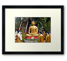 Buddha Garden Framed Print