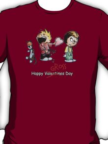Valentines Day Calvin and Hobbes and Susie Fan Art T-Shirt
