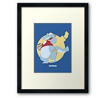 b0mbur gator Framed Print