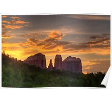Sunset Sihlouette Poster