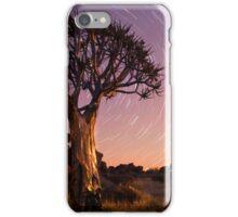 Quiver tree beneath star trails iPhone Case/Skin