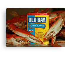 The Crabs and Old Bay - Canvas Print