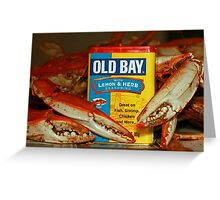 The Crabs and Old Bay - Greeting Card