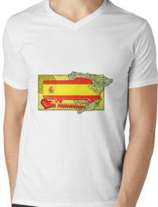 Autocaravana Espana Mens V-Neck T-Shirt
