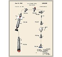 Space Capsule Patent (v2) Photographic Print