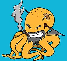 Scalawag The Octopus - Yellow by CreamFlakes