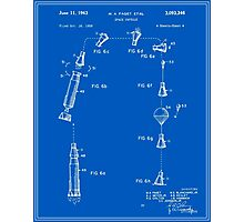 Space Capsule Patent (v2) - Blueprint Photographic Print