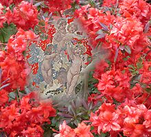 Chubby cherubs in the Azaleas. by hilarydougill