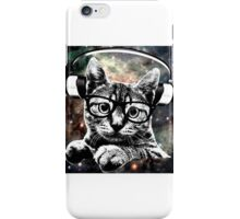 Space Kitty - Headphones On iPhone Case/Skin