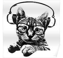 Headphone Kitty Poster