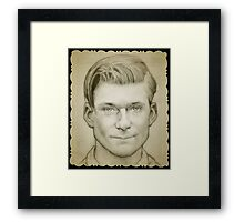 George McFly Back to the future drawing Framed Print