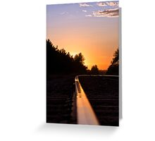 Rail Into the Sunset Greeting Card