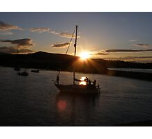 Sunset in Bray Harbour Ireland Photographic Print