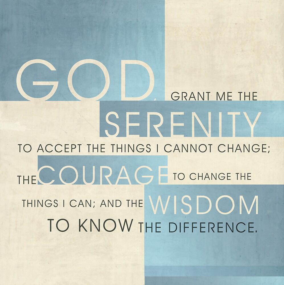 Serenity Prayer II by Dallas Drotz