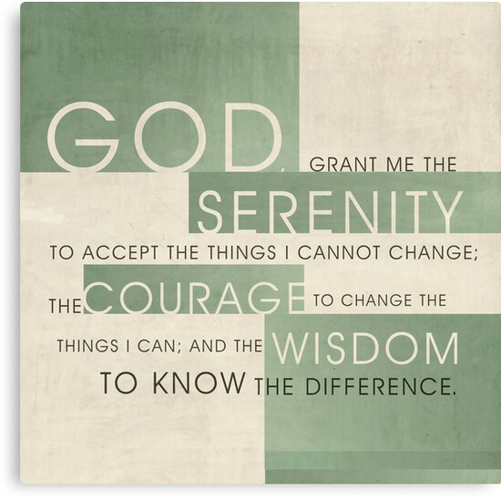 Serenity Prayer III by Dallas Drotz